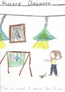 Crayon art by Kassy Daggett, age 6